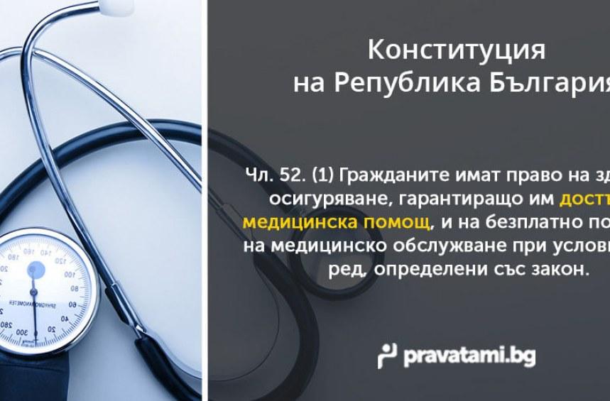 Конституцията – Достъпна медицинска помощ