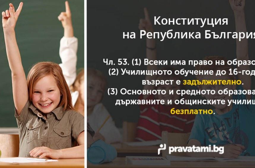 Конституцията – Право на образование