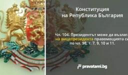 Конституцията – правомощия на вицепрезидента